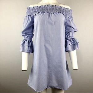 Style Envy striped blue short Dress M